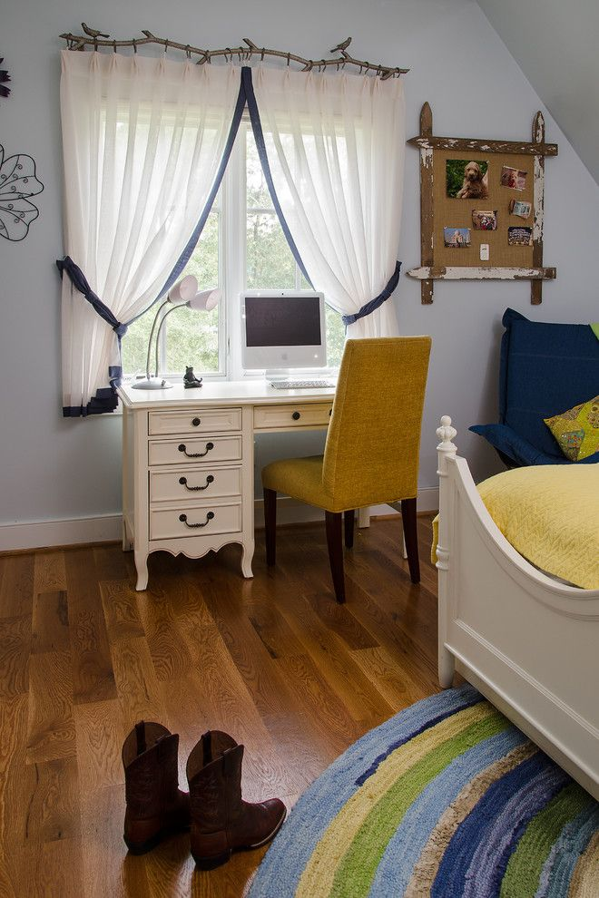 Bulliten for a Traditional Kids with a Trundle Bed and Girl's Room with a View by Kathy Corbet Interiors