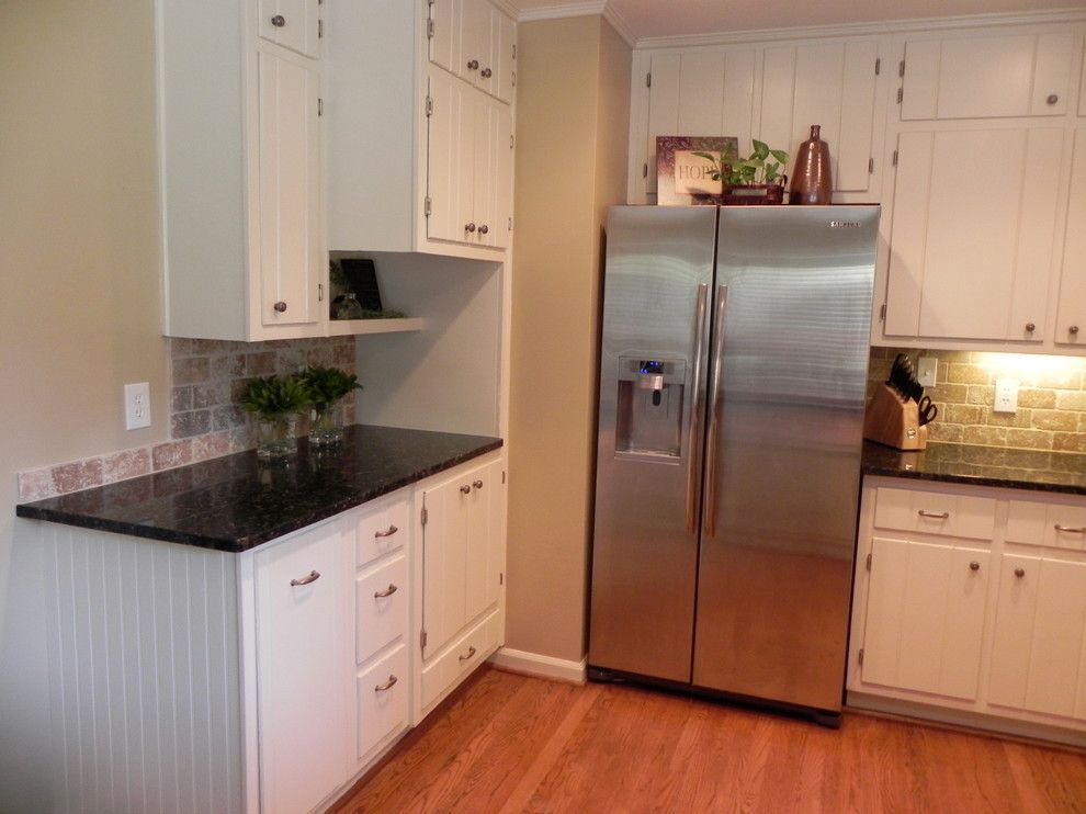 Bulliten for a Traditional Kitchen with a Built in and Mountain Oaks Kitchen Renovation by Kelle Deery