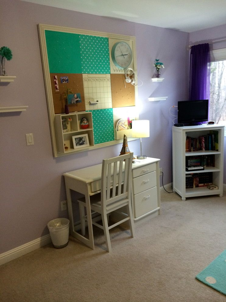 Bulliten for a Transitional Bedroom with a Wall Organization and Tween Girls Bedroom by Wendy Baker Interior Solutions, Llc