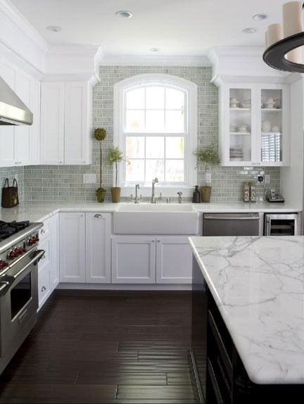 Bullnose Edge for a Traditional Kitchen with a Arched Window and San Jose Res 2 by Fiorella Design