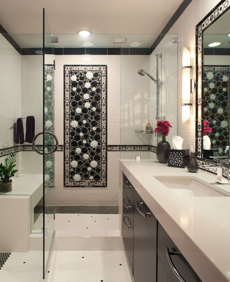 Bullnose Tile San Jose for a Contemporary Bathroom with a Ceiling Light and Zen Paradise by James Patrick Walters