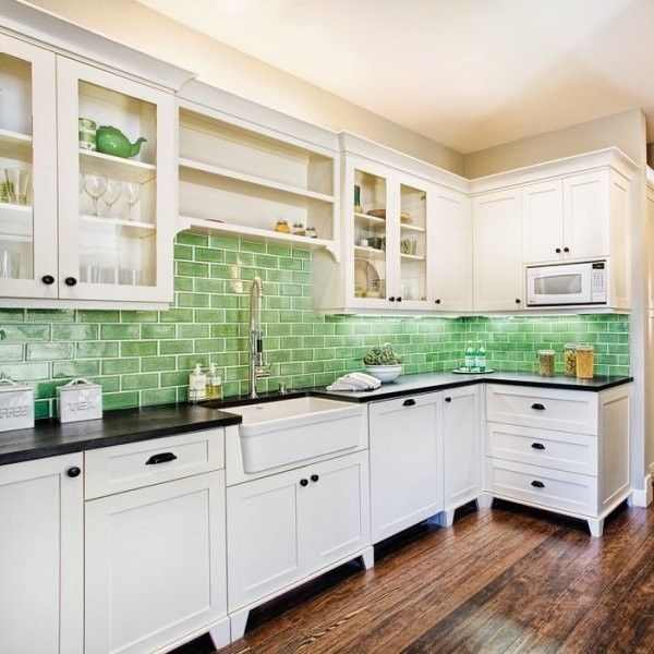 Bullnose Tile San Jose for a Contemporary Kitchen with a Contemporary and Ecohistorical Homes Kitchen Backsplash / Fireclay Tile Debris Series by Fireclay Tile