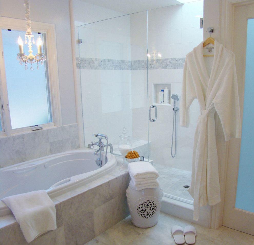 Bullnose Tile San Jose for a Traditional Bathroom with a Traditional and Master Bathroom, San Jose, Ca by Fiorito Interior Design
