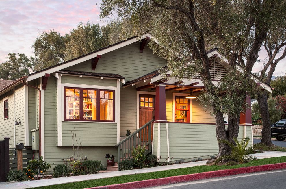Bungalow5 for a Craftsman Exterior with a Wood Columns and Craftsman Bungalow Remodel by Allen Construction