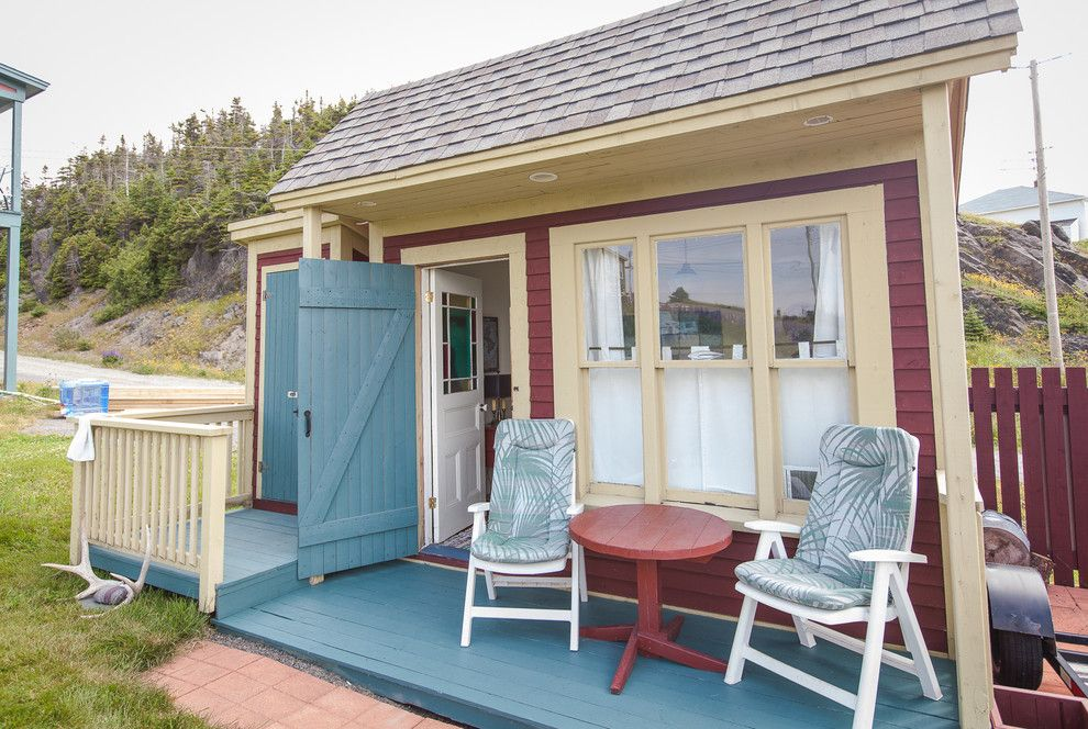 Bunkie for a Beach Style Exterior with a Guest House and Small Space Living in Outport Community, Port Rexton by Becki Peckham