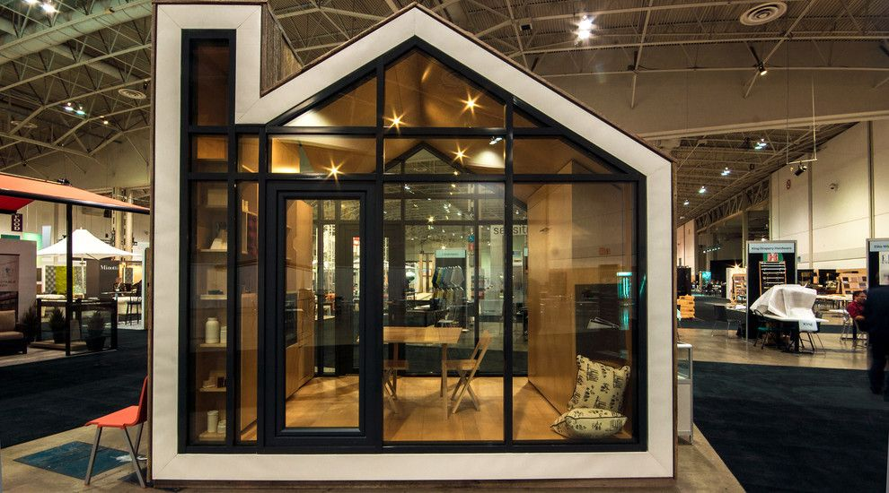 Bunkie for a Modern Exterior with a Glass and the Bunkie by Bldg Workshop