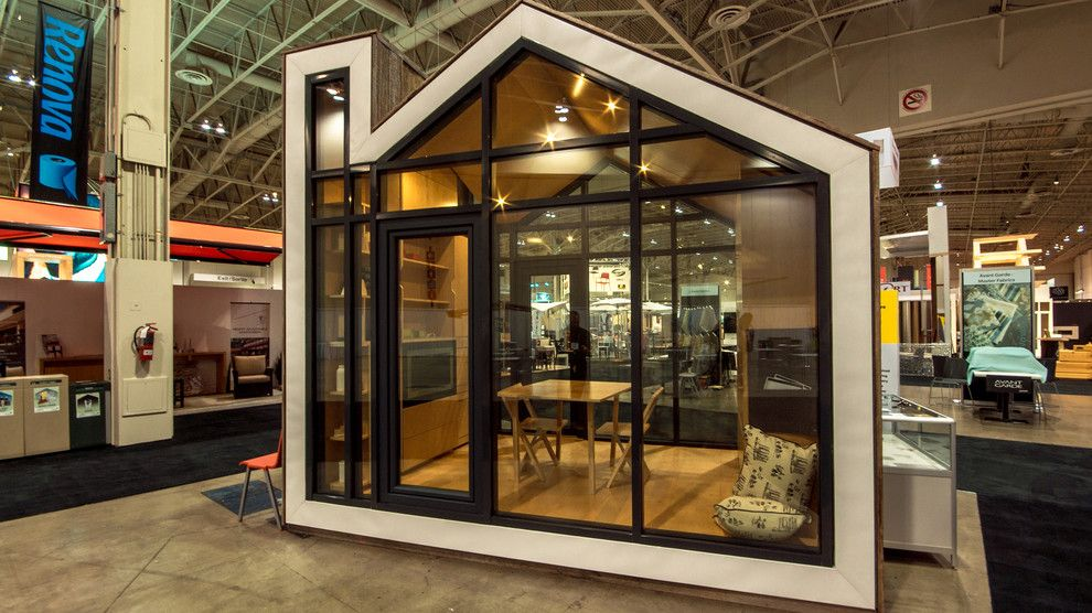 Bunkie for a Modern Exterior with a Small Space and the Bunkie by Bldg Workshop