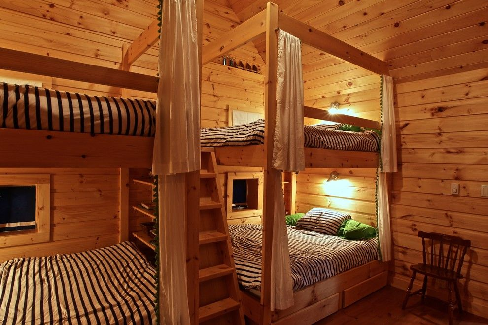 Bunkie for a Rustic Bedroom with a Island Cottage and Island Cottage Renovation by Kawartha Lakes Construction