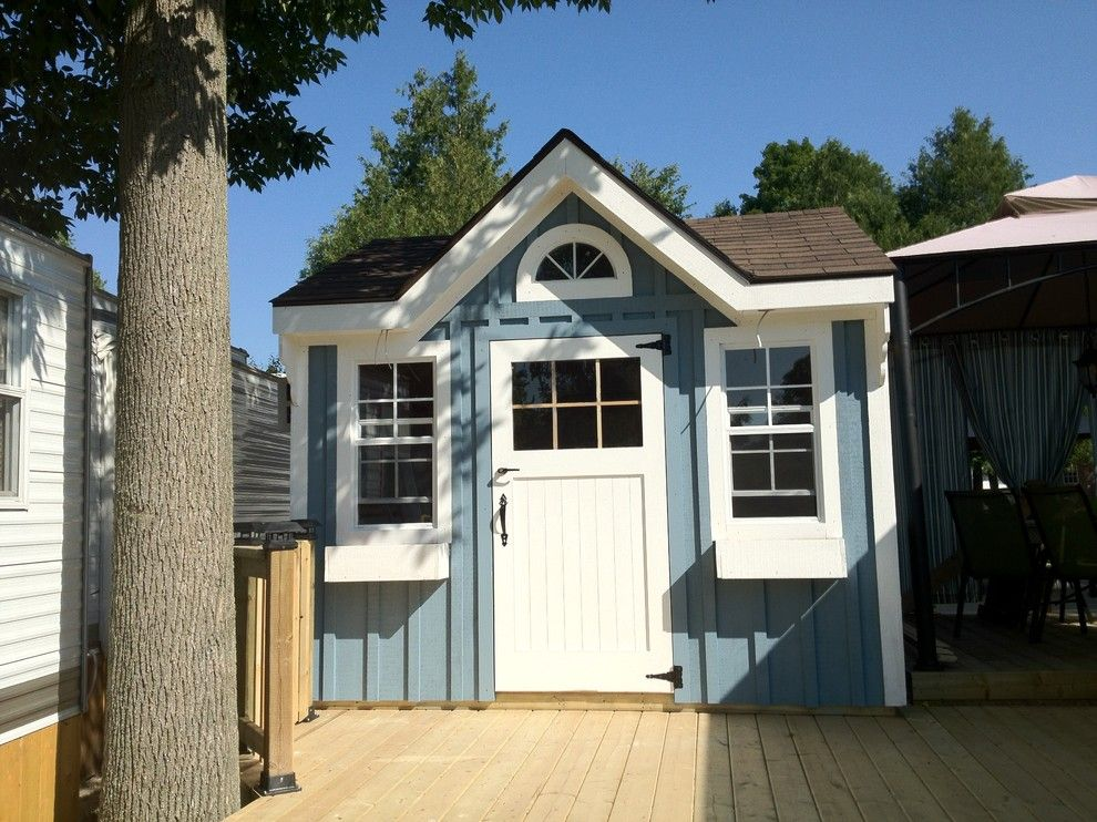 Bunkie for a Traditional Shed with a Wood Siding and Project Bunkie by Decor by Christine Interior Decorating & Design