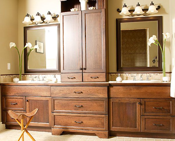Cabico Cabinets for a Traditional Spaces with a Triple Sconce and Traditional  by attleborokitchenandbath.com