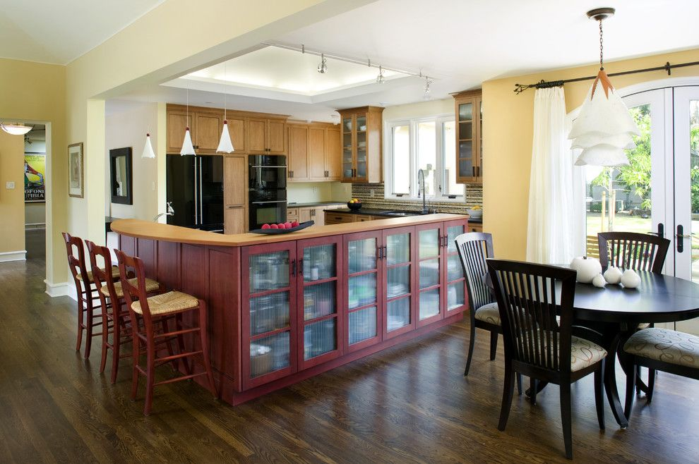Cabico Cabinets for a Transitional Kitchen with a Pendant Lighting and Amy Alper, Aia by Amy A. Alper, Architect