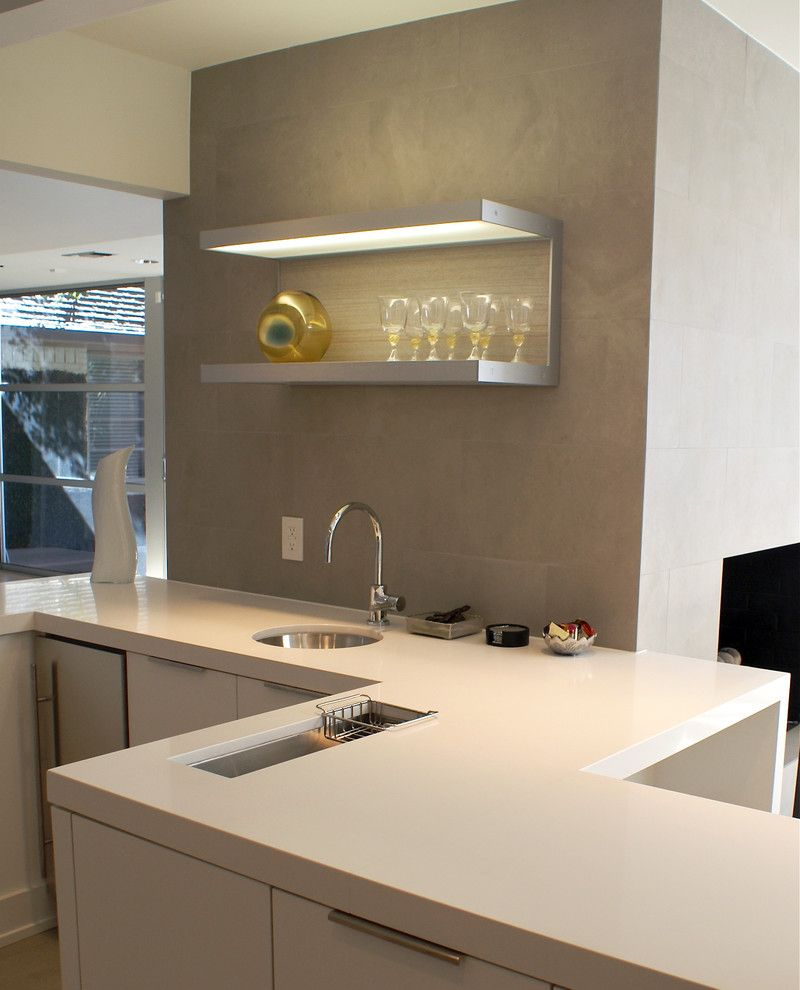 Caesarstone Quartz for a Contemporary Kitchen with a Contemporary and Modern Dallas Ranch Home by Slic Interiors