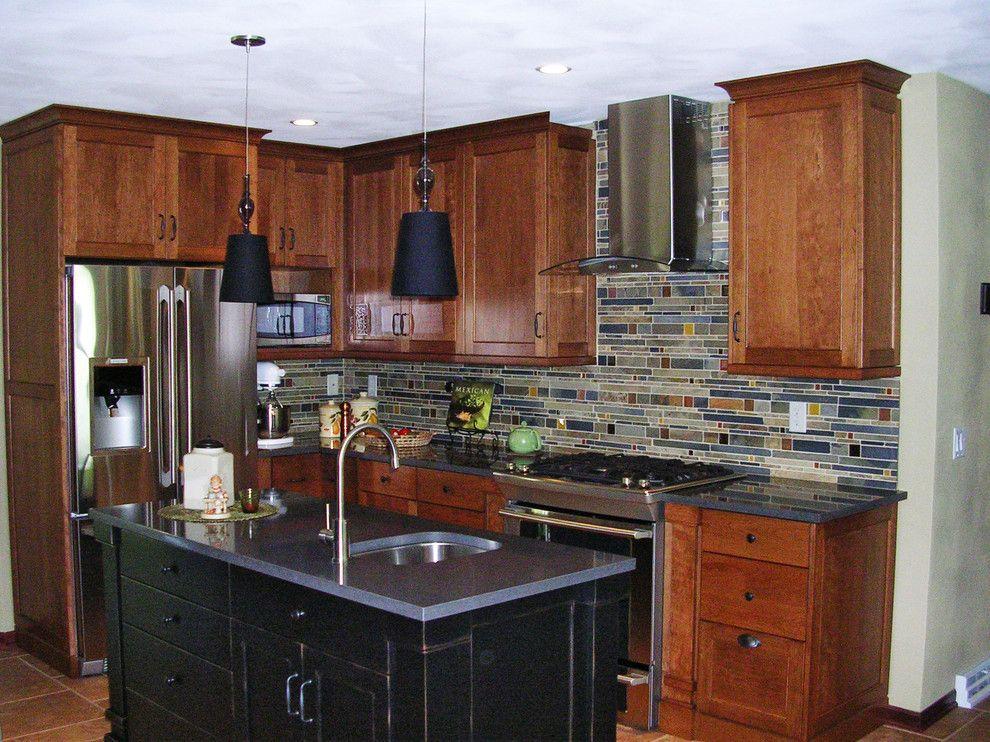 Caesarstone Quartz for a  Kitchen with a Square Polish and Raven Caesarstone Quartz by Madison Block & Stone