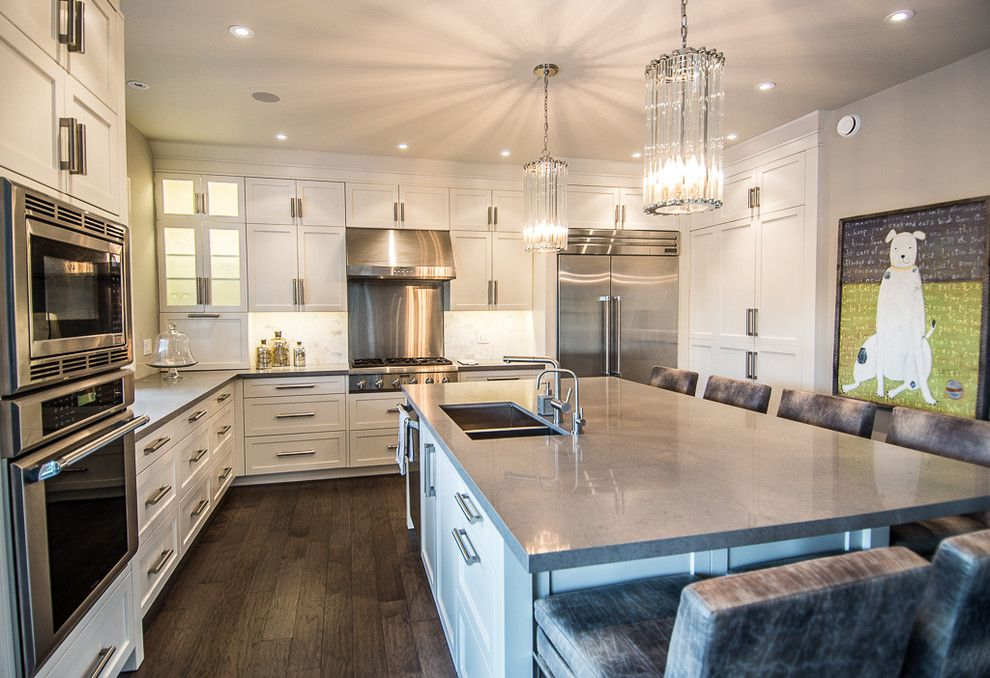 Caeserstone for a Contemporary Kitchen with a Glass Pendant Lights and Kitchen   Kitchener Area by Blackstone Cabinetry
