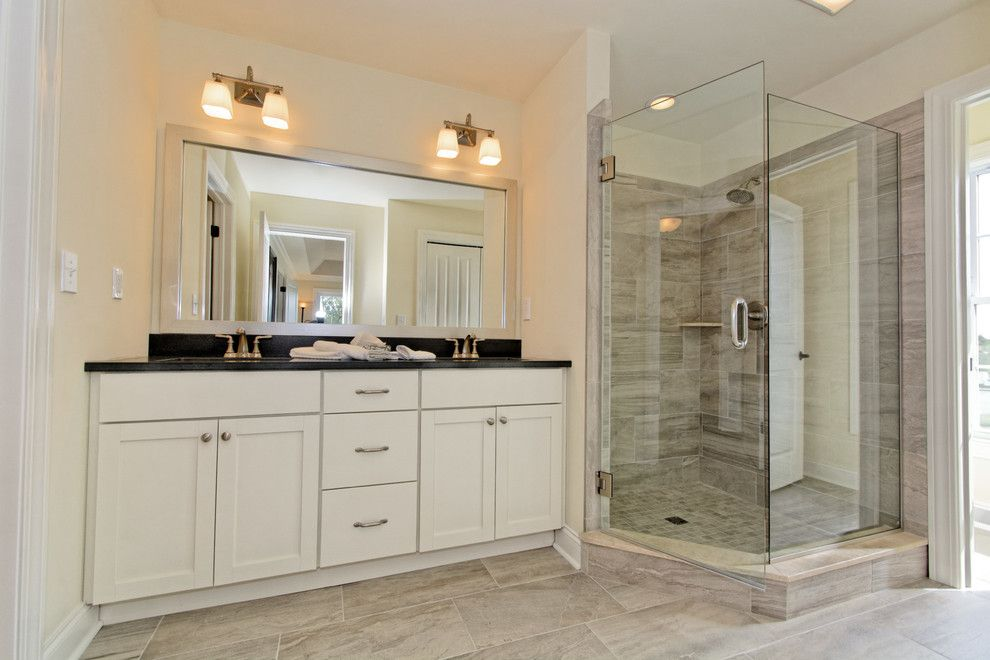 Calico Corners for a Transitional Bathroom with a Transitional and Village at Shaker Creek by Viscusi Builders Ltd.