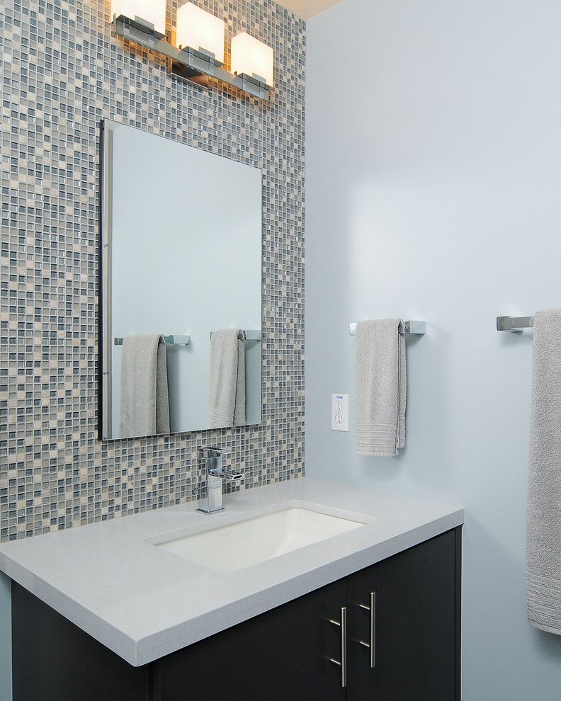California Faucets for a Contemporary Bathroom with a Chrome and Modern Couples Retreat by Kerrie L. Kelly