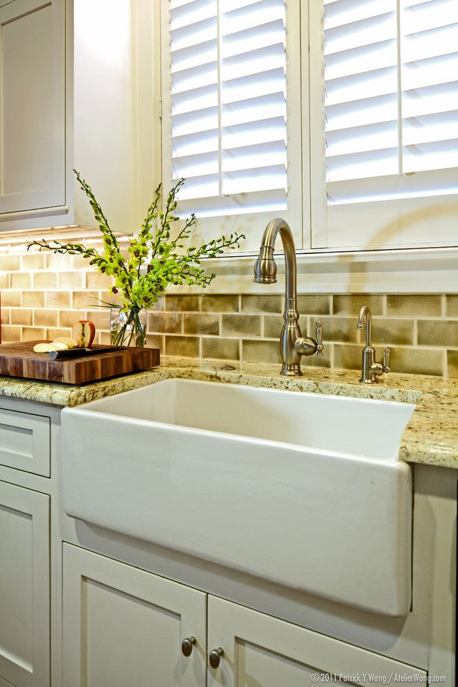 California Faucets for a Traditional Kitchen with a Plantation Shutters and 3rd Street Bungalow by Redbud Custom Homes