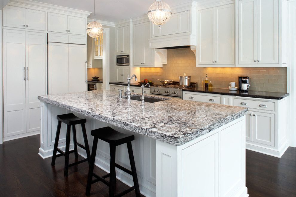 Cambria Countertops for a Contemporary Kitchen with a White Countertop and Cambria Bellingham From the Waterstone Collection by Cambria
