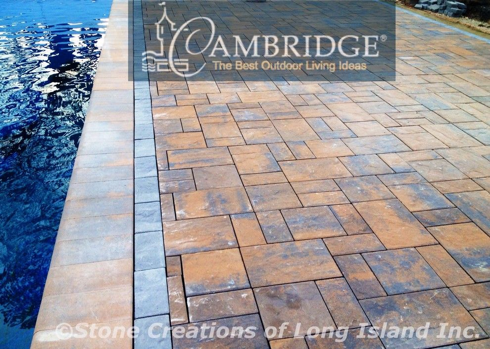 Cambridge Pavers for a Traditional Pool with a Cambridge Pavers and Cambridge Paver Pool Patio   Dix Hills,N.y 11746  Www.stonecreationsoflongisland by Stone Creations of Long Island Pavers & Masonry