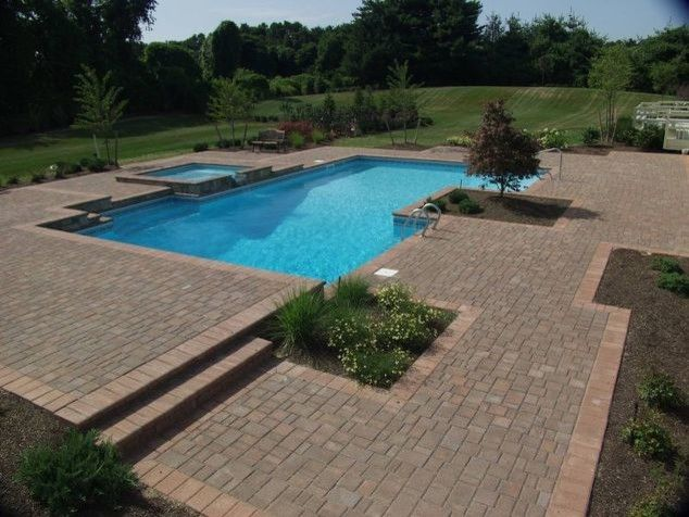 Cambridge Paving Stones for a  Pool with a Patios and Cambridge Paving Stones (Long Island/ny): By Deck and Patio Company