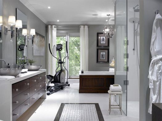 Candice Olsen for a Modern Bathroom with a Modern and Spa Bathroom by Busymom