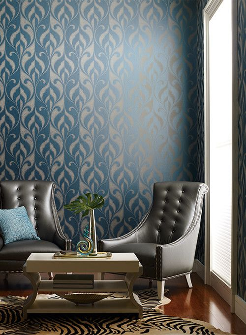 Candice Olsen for a Modern Living Room with a Wallauer and Candice Olsen Modern Luxe by York Wallcoverings by Wallauer's Design Centers