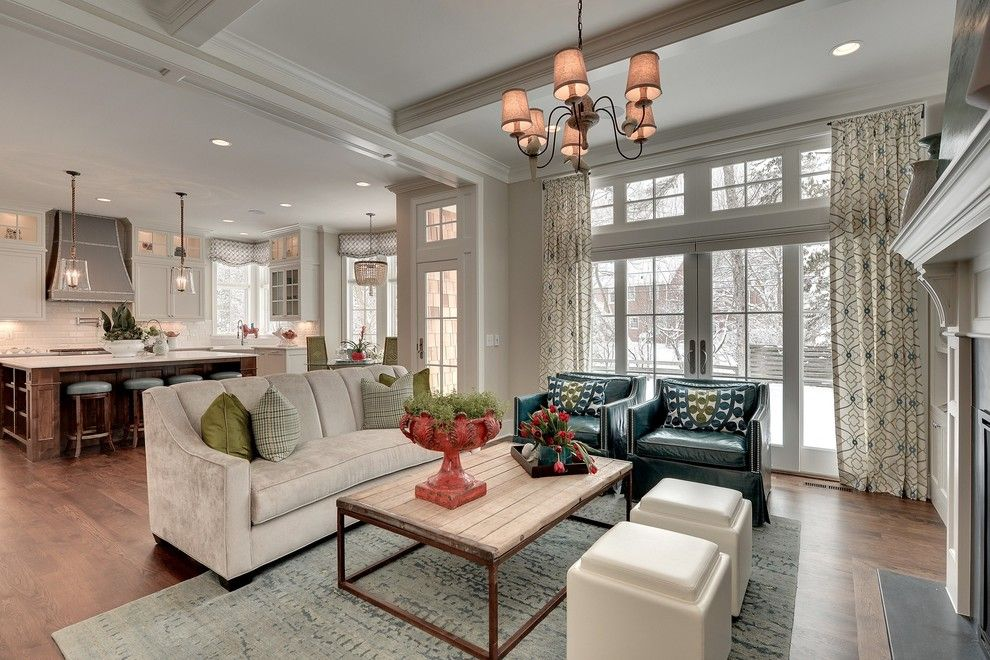 Candice Olsen for a Traditional Living Room with a Curtain and Great Neighborhood Homes   Spring Parade of Homes #307   Edina, Mn by Spacecrafting / Architectural Photography