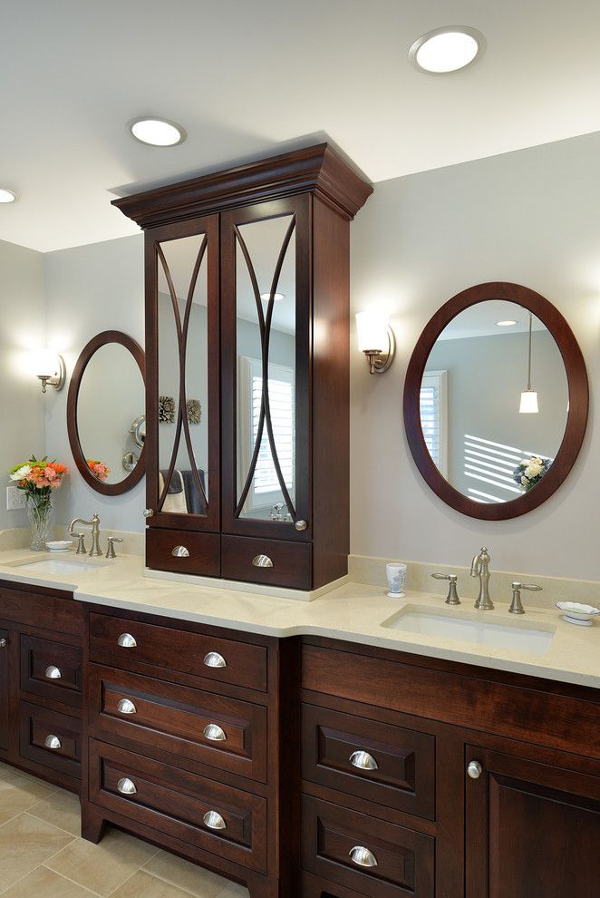 Candlelight Cabinetry for a Traditional Bathroom with a Recessed Lighting and Candlelight Cabinetry Portfolio by Candlelight Cabinetry, Inc