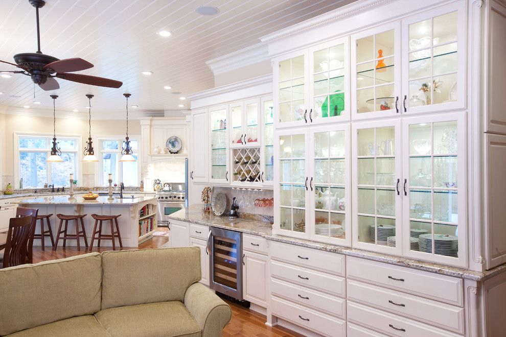 Candlelight Cabinetry for a Traditional Kitchen with a Paneled Ceiling and Candlelight Cabinetry by Mill Valley Kitchens