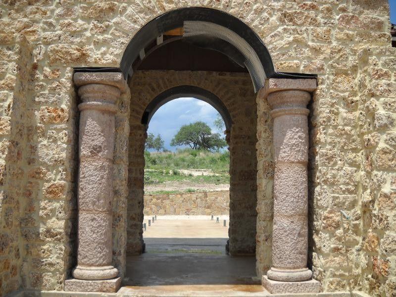 Cantera Stone for a  Exterior with a Column Decor and Columns by Cantera Stone Design, Llc