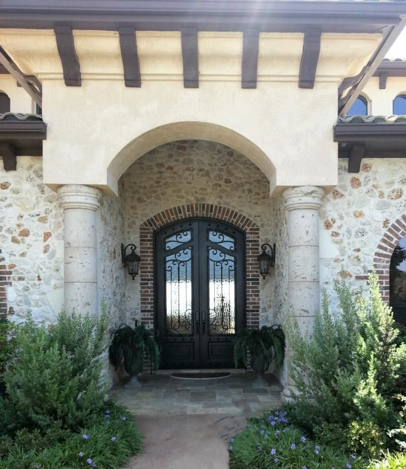 Cantera Stone for a  Exterior with a Columns and Columns by Cantera Stone Design, LLC