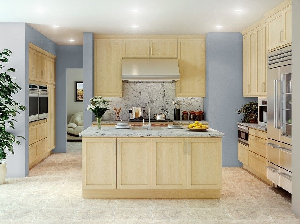 Canyon Creek Cabinets for a Traditional Kitchen with a Kitchen