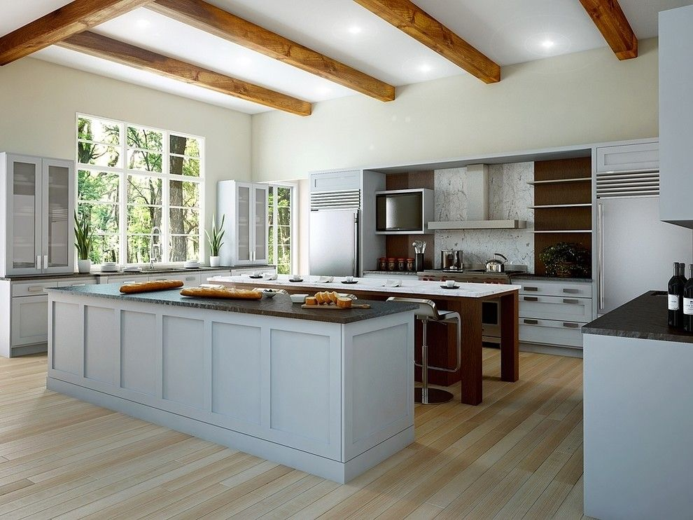 Canyon Creek Cabinets For A Contemporary Kitchen With A Cornerstone And Canyon  Creek Cornerstone   Trio