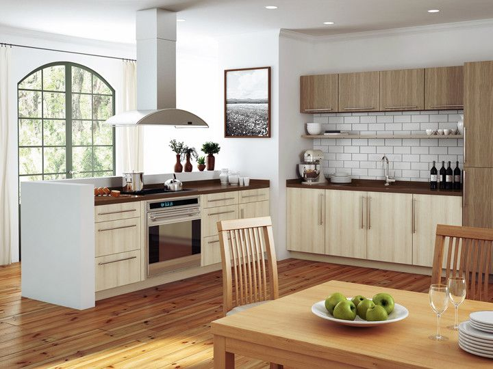 Canyon Creek Cabinets for a Contemporary Kitchen with a Millennia and Canyon Creek Millennia - Corson in Thermo Structured Surface (TSS) - Frameless by Canyon Creek Cabinet Company