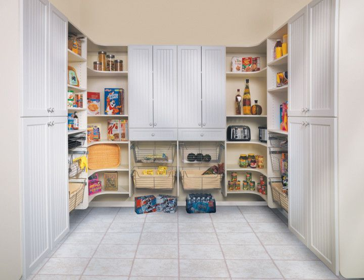 Canyon Creek Cabinets for a Modern Kitchen with a Pantries and Canyon Creek   Pantry in White Melamine by Canyon Creek Cabinet Company