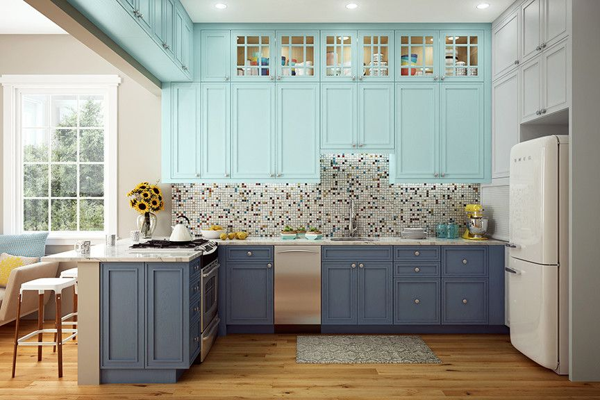 Canyon Creek Cabinets for a Transitional Kitchen with a Painted Cabinets and Painted Cabinets by Canyon Creek Cabinet Company