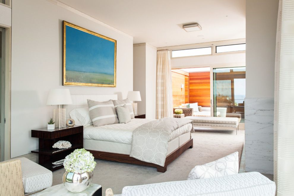 Cape Cod Lumber for a Contemporary Bedroom with a Large Windows and Modern Home Overlooking Cape Cod Bay   North Truro, Ma by Cape Associates, Inc.