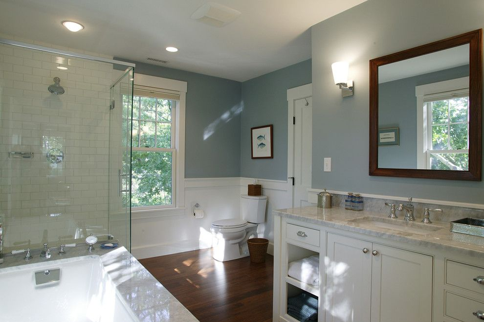 Cape Cod Lumber for a Traditional Bathroom with a Soaking Tub and Cape Cod Renovation   Master Bath by Frank Shirley Architects