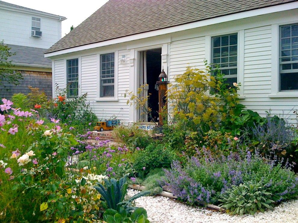 Cape Cod Lumber for a Traditional Landscape with a Overgrown and Provincetown Cottage by Becky Harris