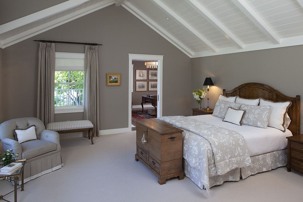 Carpet Tech Lubbock for a Traditional Bedroom with a White Beam Ceiling and House in Sonoma by Julie Williams Design