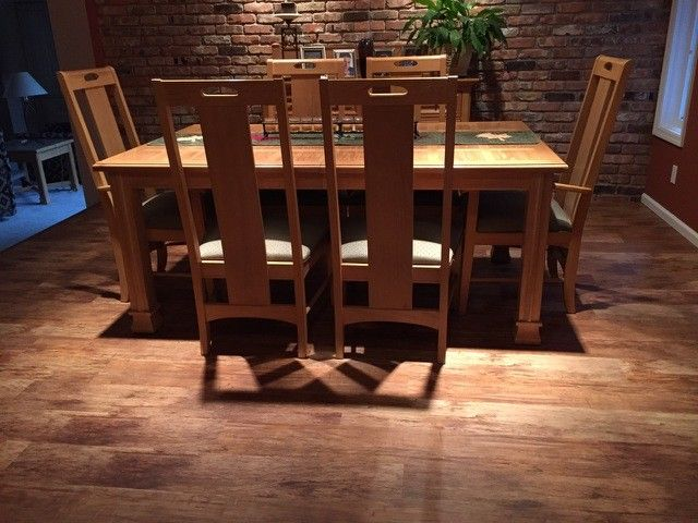 Carpet Weavers for a Modern Dining Room with a Hardwood Flooring and Residential by Carpet Weaver's
