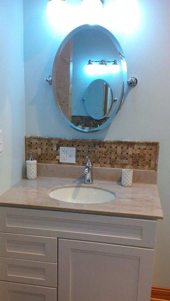 Carpet Weavers for a Traditional Bathroom with a Backsplash and Residential by Carpet Weaver's