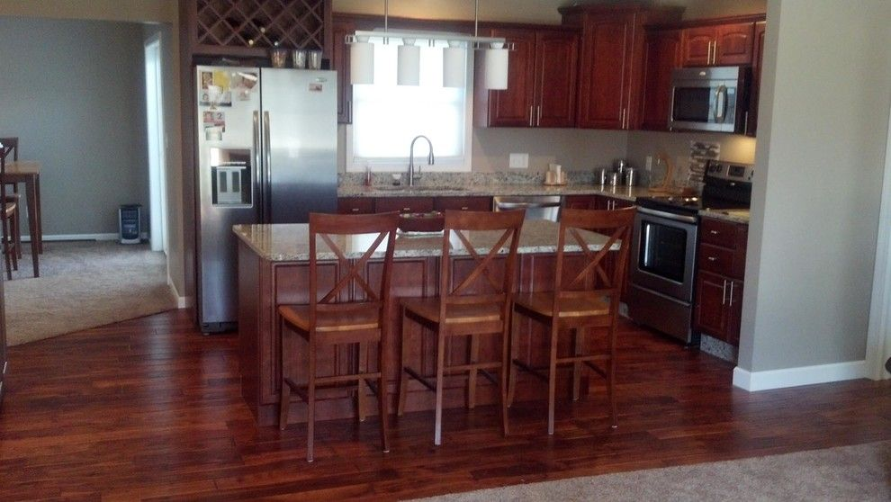 Carpet Weavers for a Traditional Kitchen with a Vinyl Flooring and Residential by Carpet Weaver's
