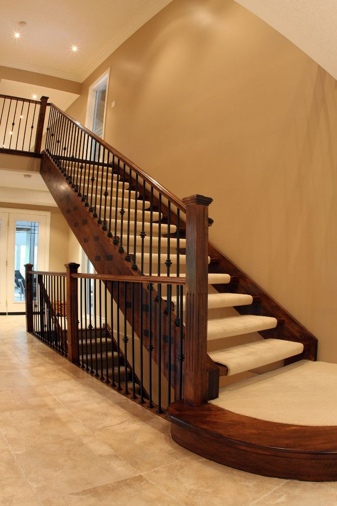 Carpeted Stairs for a Traditional Staircase with a Carpet Staircase and St Clements Staircase by Schnarr Craftsmen Inc