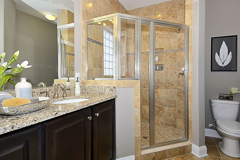 Caruso Homes for a  Spaces with a His and Hers Vanity and Haydn by Caruso Homes