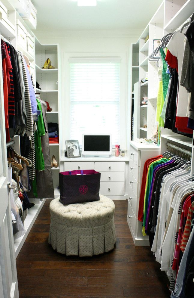 Cassies Closet for a Transitional Closet with a My Houzz and Gerardi Home by Mina Brinkey