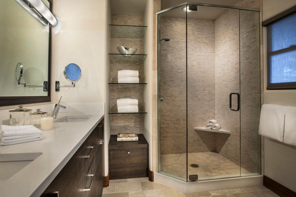 Cathers for a Contemporary Bathroom with a Tile and Horse Ranch by Cathers Home