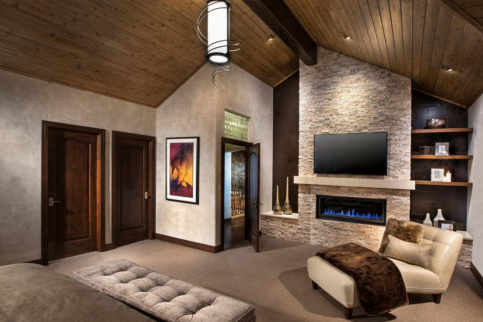 Cathers for a Contemporary Bedroom with a Baseboards and Horse Ranch by Cathers Home