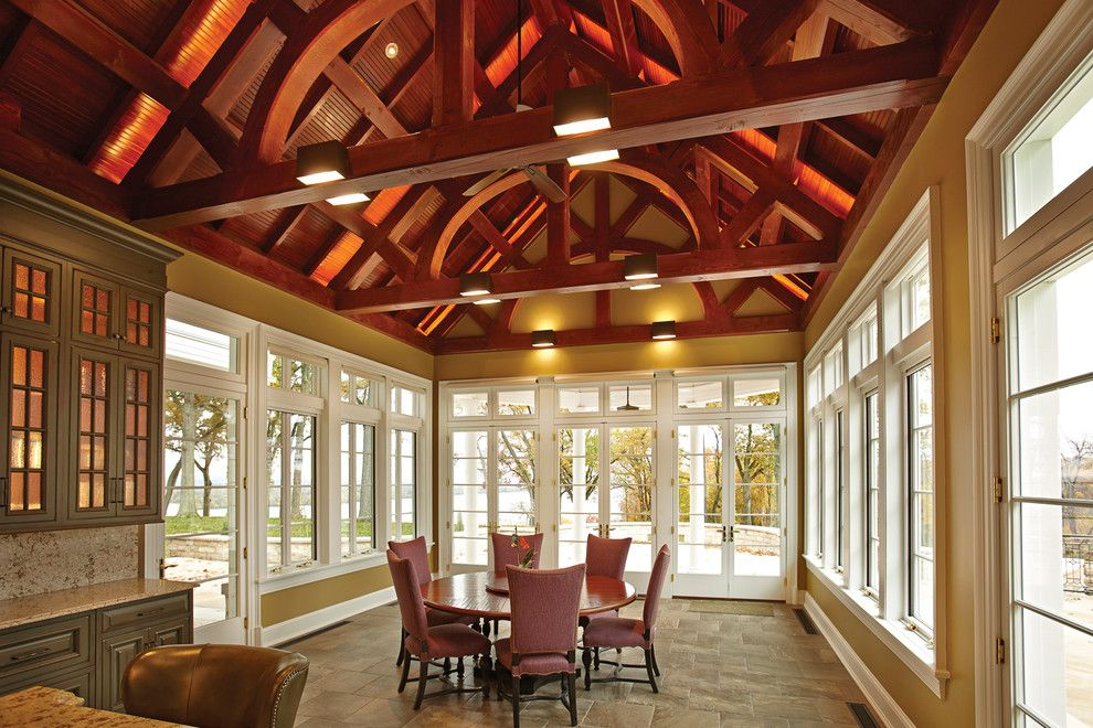 Catskill Farms for a  Sunroom with a Beige Floor and Kolbe Windows & Doors by Kolbe Windows & Doors