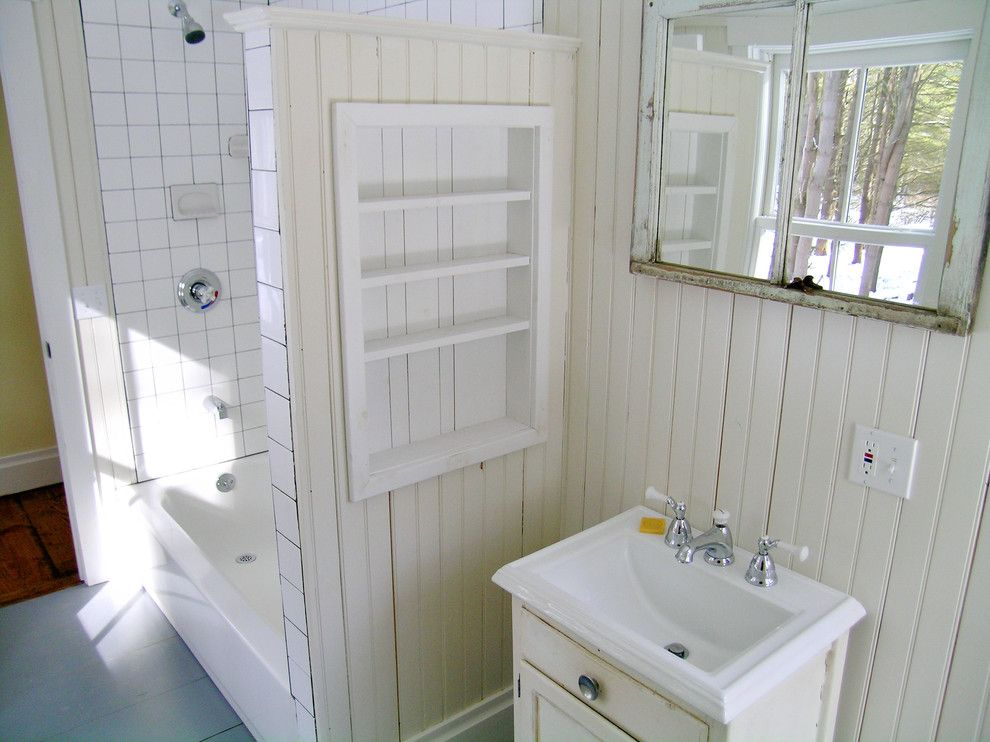 Catskill Farms for a Traditional Bathroom with a Bathroom and Bathrooms by Charles Petersheim, Builder